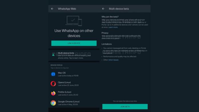 WhatsApp Multi-device feature