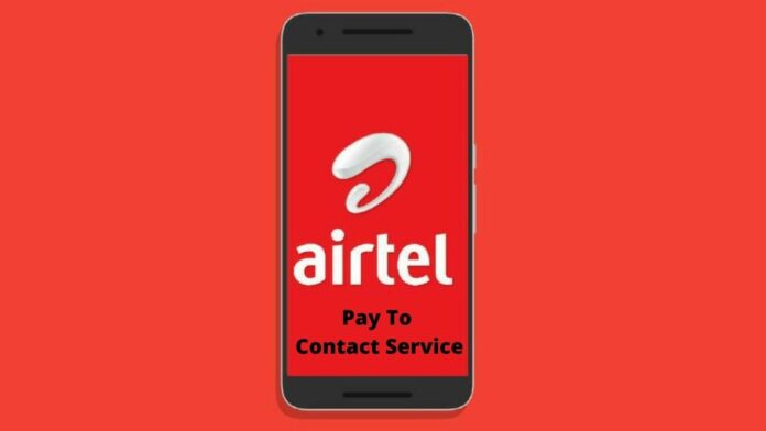 Airtel pay to contact service