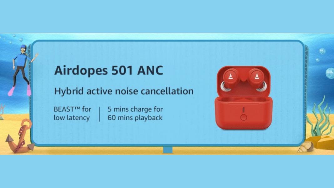 BoAt Airdopes 501 ANC