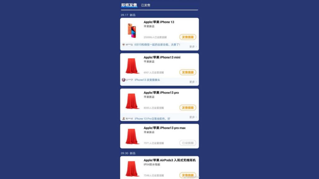 iPhone 13 sale listing