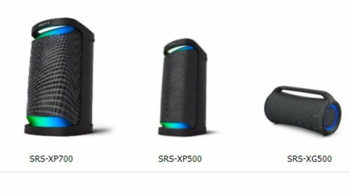 Sony wireless party speakers
