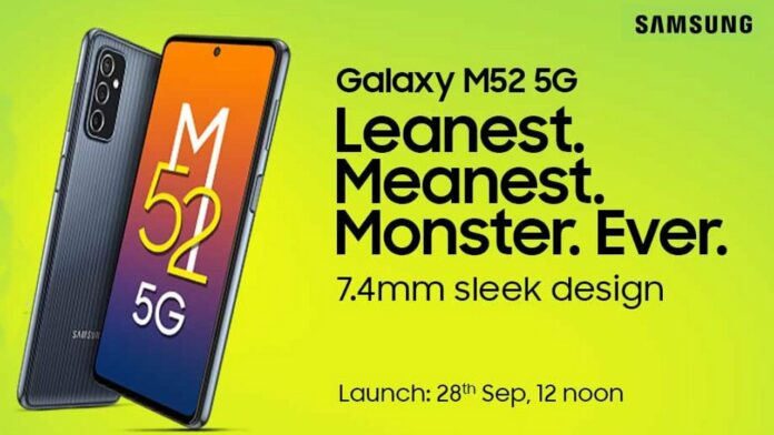Galaxy M52 5G launch