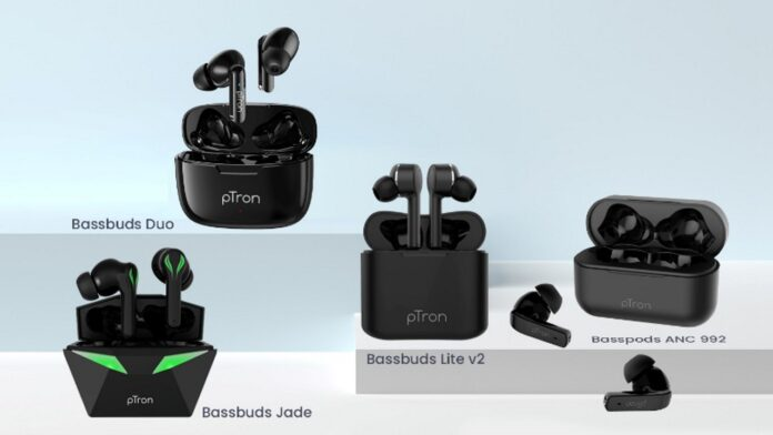 pTron Bassbuds Jade